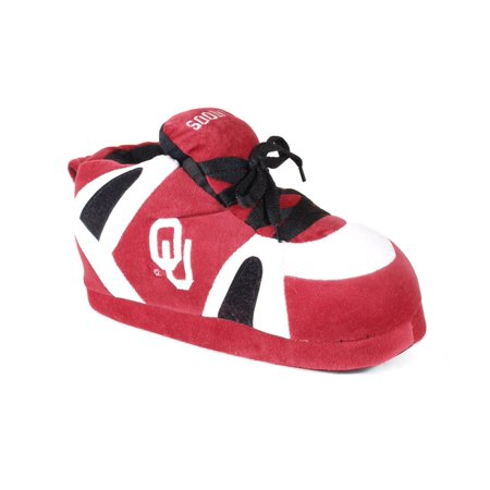 Image of Comfy Feet NCAA Sneaker Boot Slippers - Oklahoma Sooners