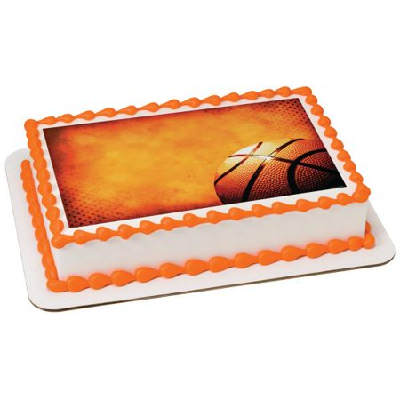 Basketball Edible Cake Topper Image - Walmart.com