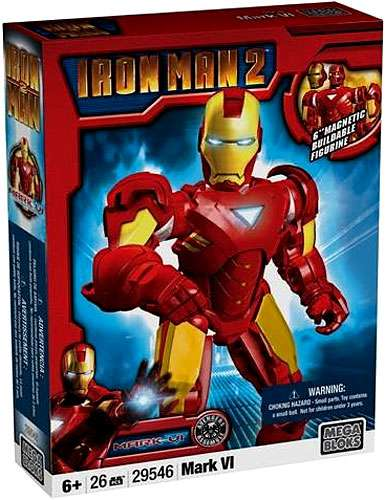 Mega Bloks Iron Man 2 Iron Man Mark VI Set #29546 by Mega Brands