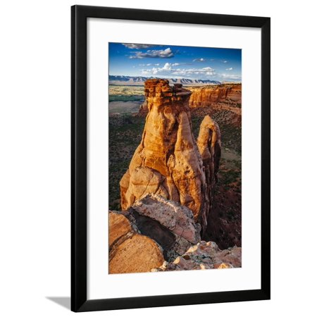 Rock Shop Grand Junction (Sunset Over The Rock Formations In Colorado National Monument Near Grand Junction, Colorado Framed Print Wall Art By Jay)