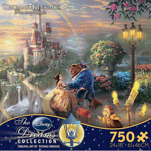 Ceaco Kinkade Disney Dreams Beauty And The Beast Puzzle, 750 pieces