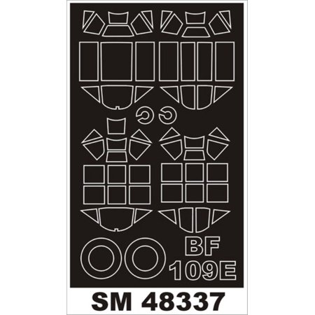 Montex Mini Mask 1:48 Messerschmitt Bf-109 E for Airfix SprayingStencil #SM48337