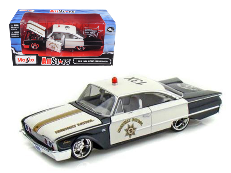 1960 Ford Starliner Highway Patrol All Stars 1 26 Diecast Model Car by Maisto by Diecast Dropshipper