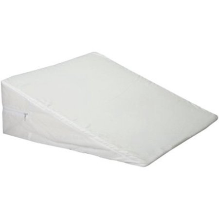 3 Pack - Hermell Bed Wedge Foam Slant With White Polycotton Zippered Cover 1 ea