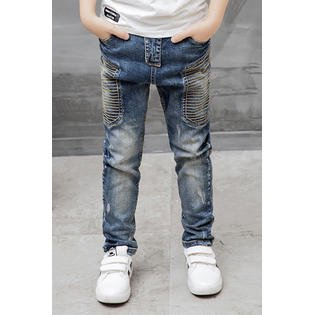 Kids Boys Straight Leg Slim Fit Bootcut Jeans