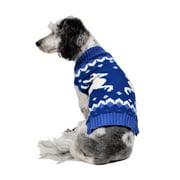 rwb pet classic reindeer ugly christmas dog sweater blue - Large Dog Christmas Outfits
