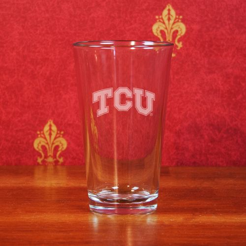 TCU Horned Frogs Deep Etched Pub Pint Glass