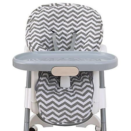 Nojo High Chair Cover Pad Chevron Gray