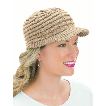 Collections Etc. - Womens Winter Hat with Brim e70865a1265