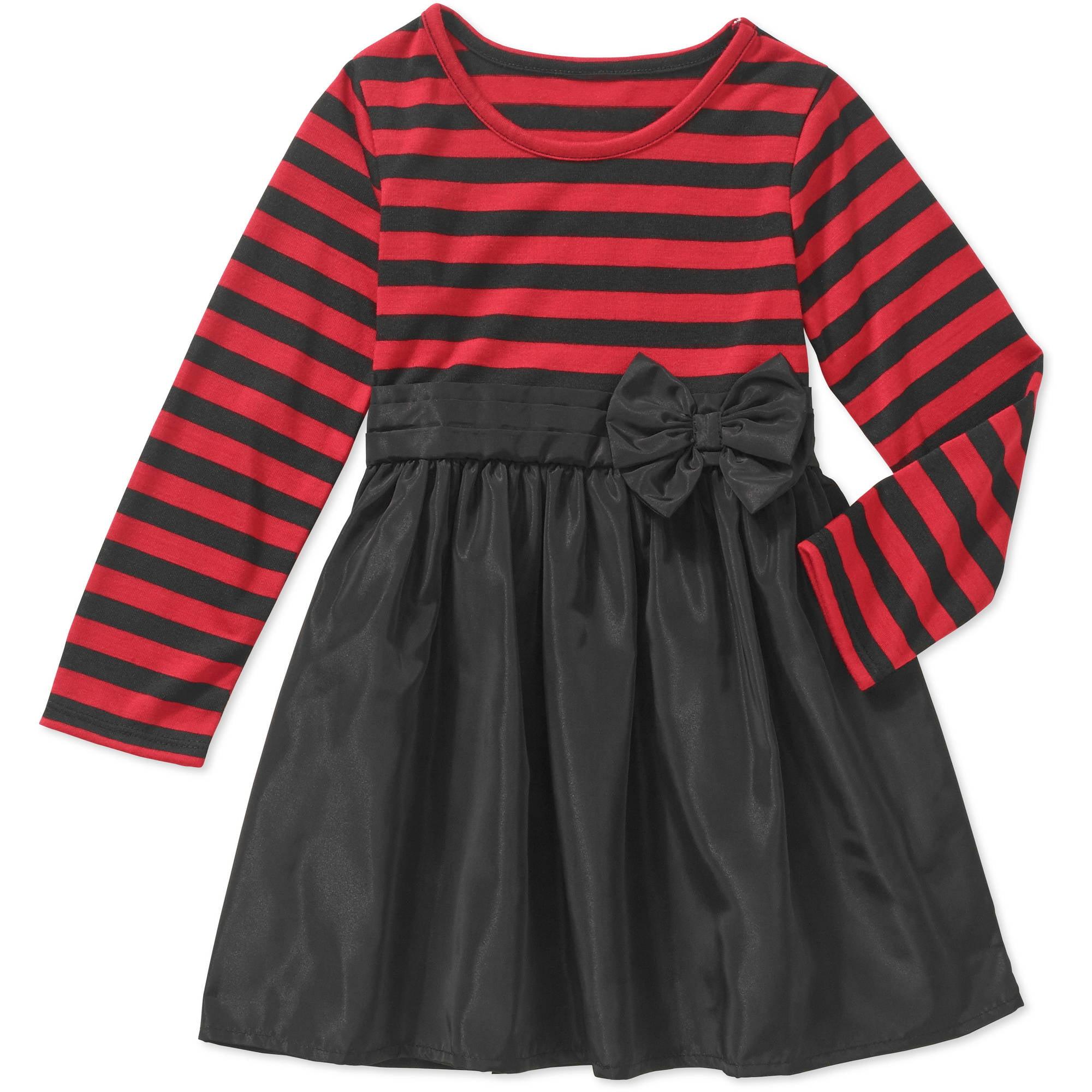 Healthtex Toddler Girl Long Sleeve Sash Belt Dress