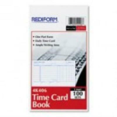 Rediform Time Card - Rediform Employee Time Card, Daily, Two-Sided, 4-1/4 x 7, 100/Pad