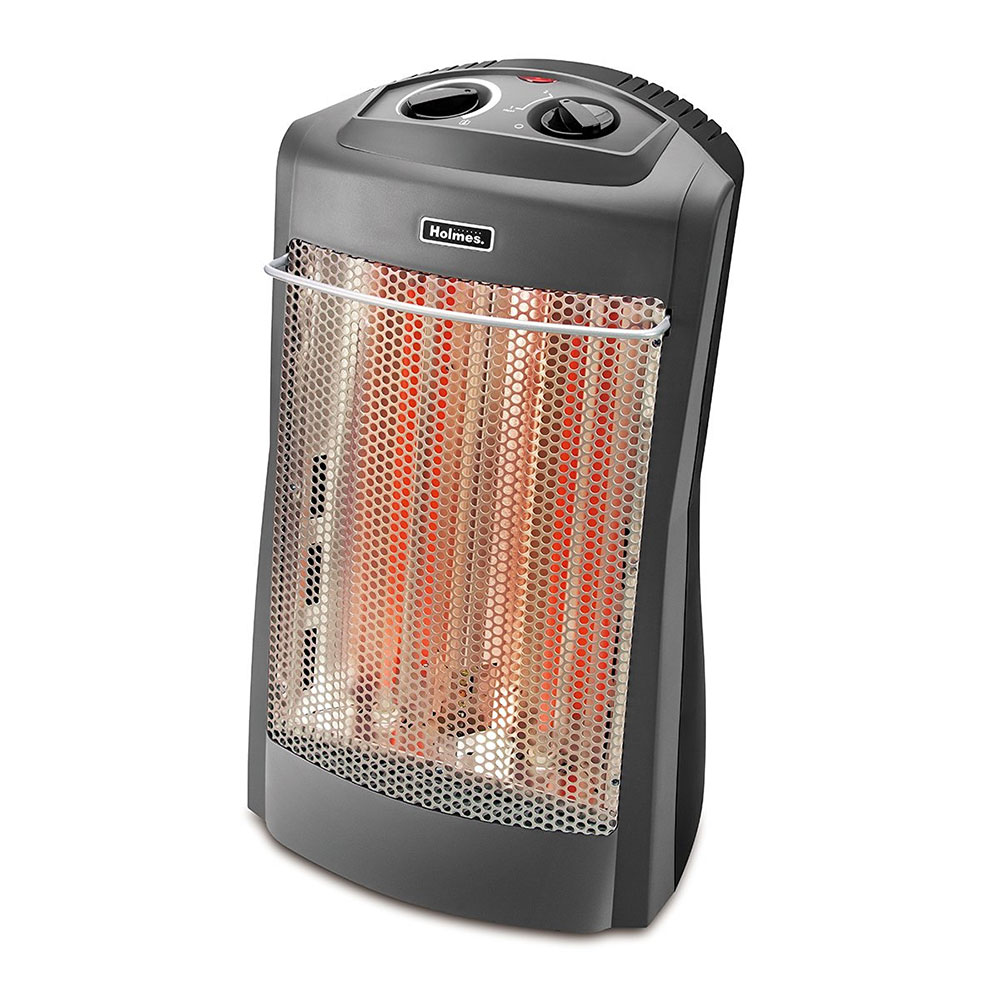 Holmes HQH341-NUM 1500W Quartz Tower Heater w/ Thermostat in Black