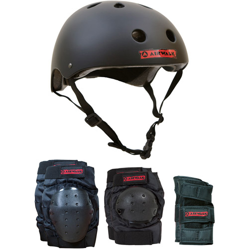 Airwalk Helmet, Knee, Elbow and Wrist Combo, Large/XLarge
