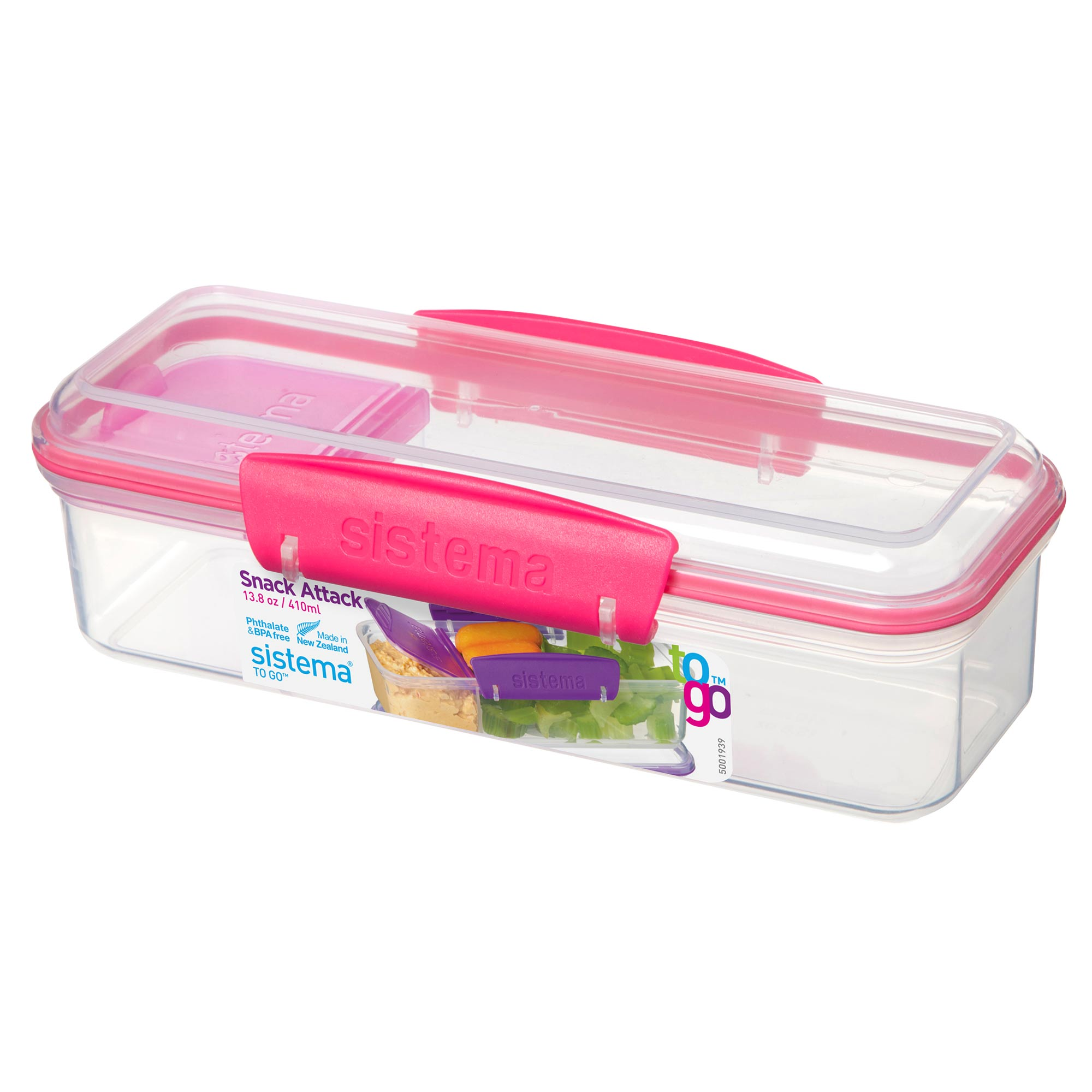 Sistema Snack Attack To Go Snack and Dip Container Pack