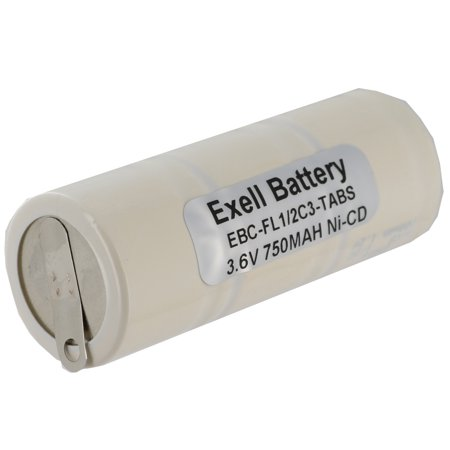 Exell 3.6V 750mAh NiCd Rechargeable Battery w/ Tabs For Flashlight E-Torch NO SALE (Prep Tab E)
