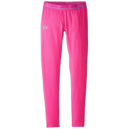 Under Armour Girls' HeatGear Armour, Rebel Pink/Steel, Youth Medium (Under Armour Toddler Girls Pants)