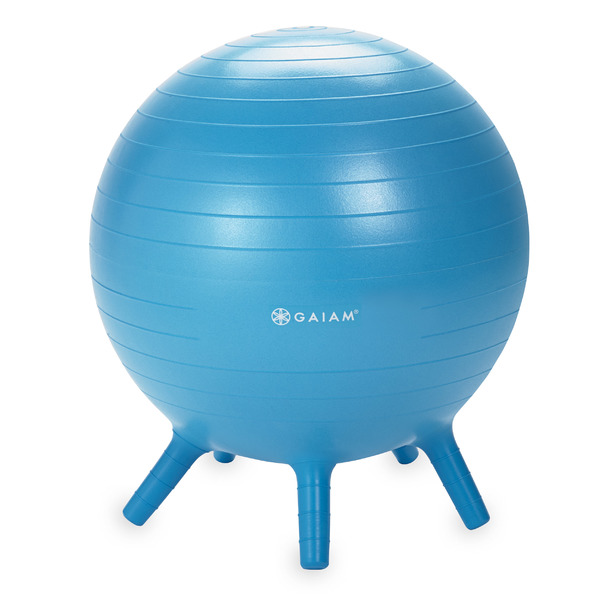 Gaiam Kids Stay-N-Play Balance Ball, Blue, 45cm