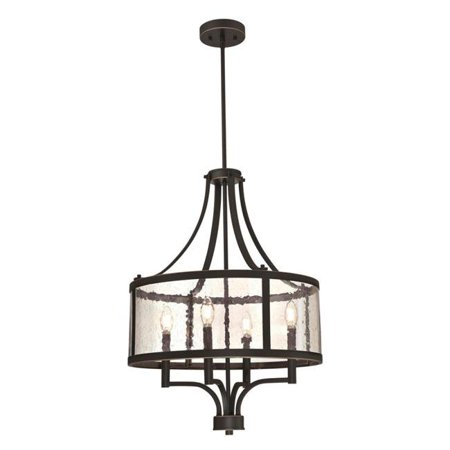 Westinghouse Lighting 6368400 4 Light Chandelier with Highlights & Clear Seeded Glass - Oil Rubbed Bronze - image 1 of 1
