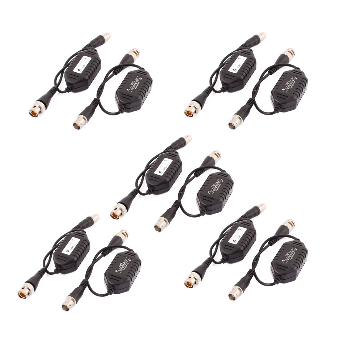 Unique Bargains 10 Pcs Coaxial Video Ground Loop Isolator Balun BNC Male to Female for CCTV