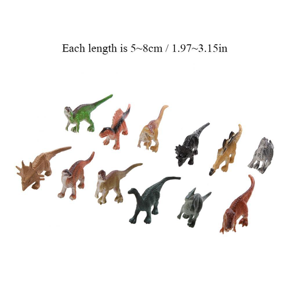 Animaux En Plastique Jouet fyydes 12pcs / set jouet en plastique souple modèle de dinosaure en  plastique pour enfant collection d'enfant en bas âge enfants cadeau, modèle  de