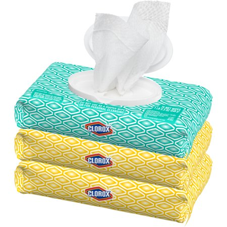 Wipes Lemon Scent - Clorox Disinfecting Wipes, 3 Soft Packs, (225 ct) Bleach Free Cleaning Wipes - 1 Fresh Scent and 2 Crisp Lemon