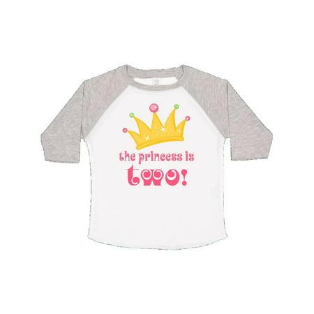 2nd Birthday Princess Crown Cute Girls Toddler T-Shirt Cure Girl Shirt