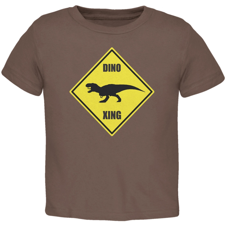 Dino Crossing Brown Toddler T-Shirt