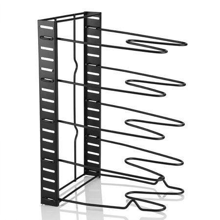 5-Tier Kitchen Houseware Heavy Duty Pot Organizer Cutting Board Holder Frying Pan Rack Adjustable Pantry Rack Cookware Tools,Two Ways to (Best Way To Store Pot)