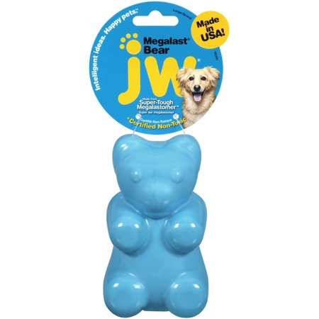 Image of JW Pet Megalast Rubber Dog Toy - Bear - Assorted Large - Pack of 6