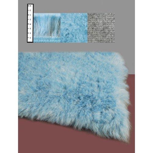 Ixi Eros Faux Flokati Blue Area Rug