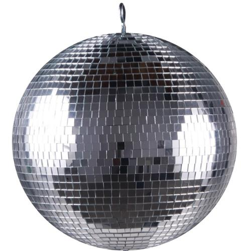 "Mirror Ball Hanging 16"" Silver Ball"