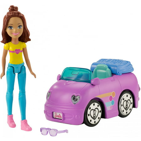barbie on the go purple car and doll. Black Bedroom Furniture Sets. Home Design Ideas