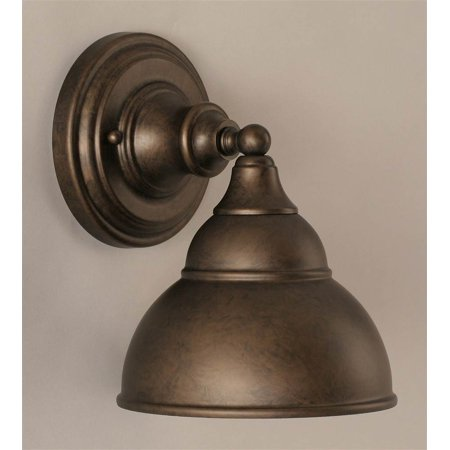 Wall Sconce Metal Shade : Wall Sconce w 7 in. Double Bubble Metal Shade - Walmart.com