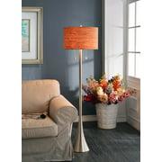 Kenroy Home Bulletin Floor Lamp, Brushed Steel