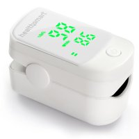 HealthSmart Pulse Oximeter that Displays Blood Oxygen Content and Pulse Rate with Green LED Display