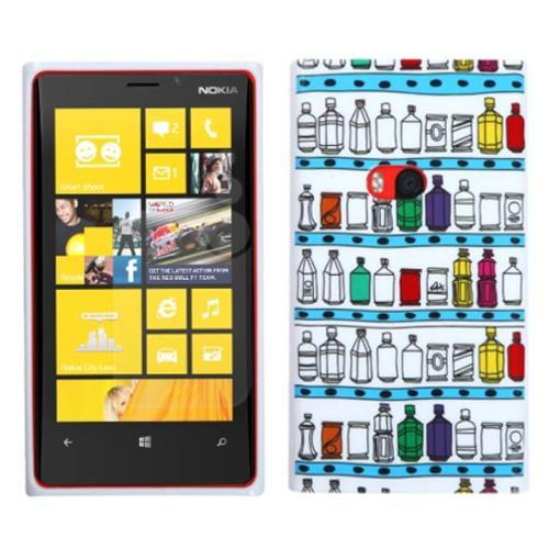 Insten Wine Cabine/White Candy Skin Case for NOKIA: 920 (Lumia)