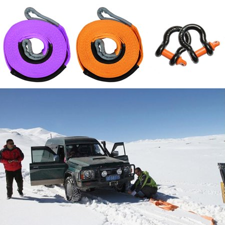 500cm x 5cm 5 tons of Automatic Car Tow Rope (without