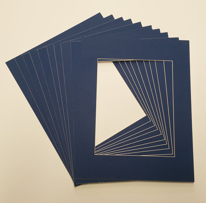 8x10 White Picture Mats With White Core For 5x7 Pictures Fits 8x10