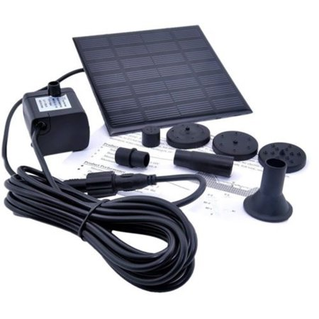 Tuscom Solar Water Panel Power Fountain Pump Kit Pool Garden Pond Watering (Solar Pond Pump)