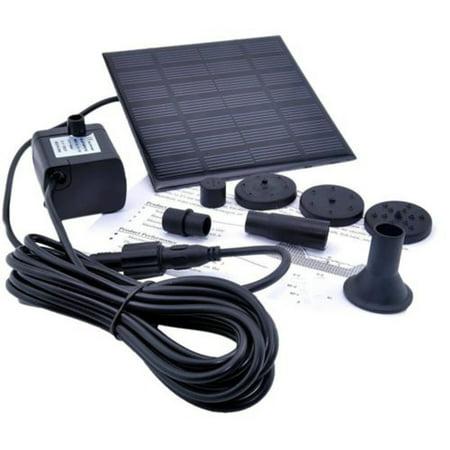 Solar Powered Water Pump (Tuscom Solar Water Panel Power Fountain Pump Kit Pool Garden Pond Watering)