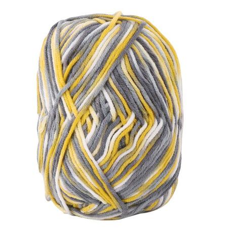 Cotton Blends Handmade Crochet Gloves Sweater Knitting Yarn Cord Yellow Gray