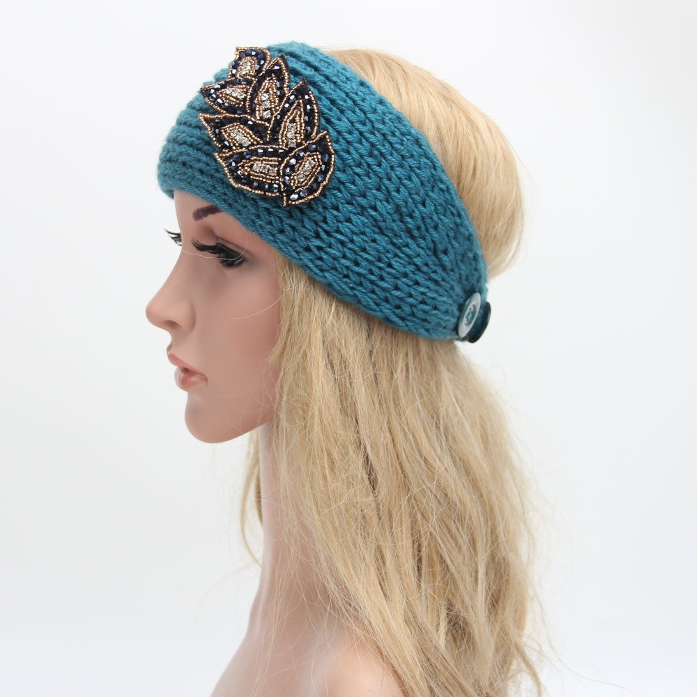 Women Winter Knitting Headband Handmade Keep Warm Hairband