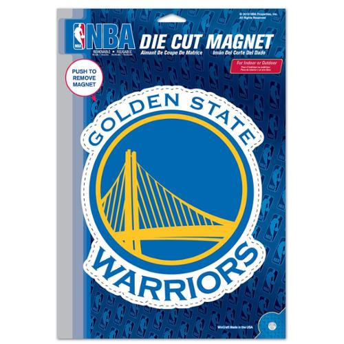 Golden State Warriors Official NBA 6 inch x 9 inch  Car Magnet by Wincraft