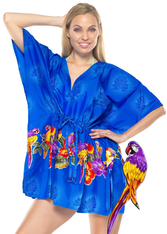 dcbbeeaf7d29e HAPPY BAY Bikini Beach Aloha Hawaiian Cover ups Mid Length Swimwear Robe  Tunic