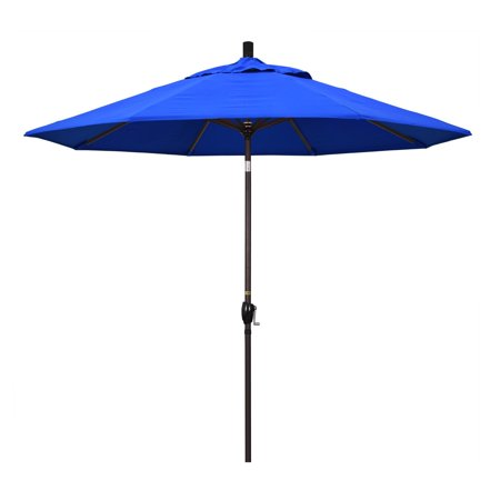California Umbrella 9 ft. Aluminum Push Button Tilt Sunbrella Market Umbrella