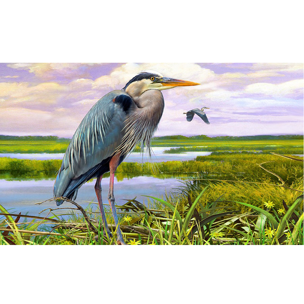 Custom Decor Blue Heron Doormat  #2690M