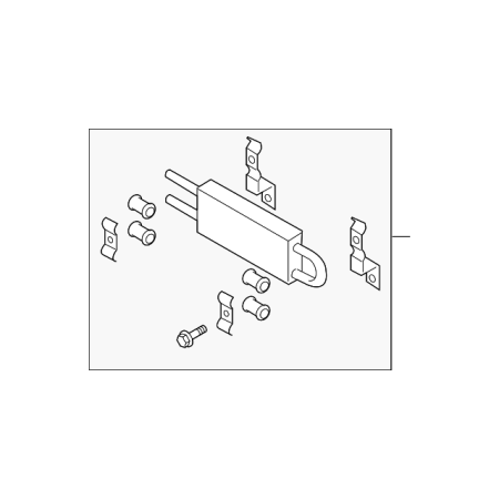 Genuine OE Infiniti Power Steering Cooler 49790-JK000 (Infiniti Power Steering)