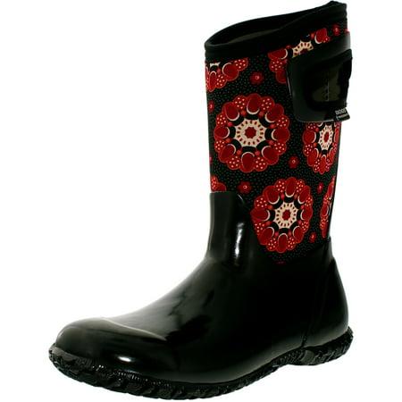 83329696d7 Bogs Girl's North Hampton Kaleidoscope B Black Multi Mid-Calf Rubber Rain  Boot - 11M