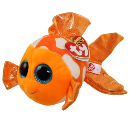 TY Beanie Boo Plush - Sami the Orange Fish 6