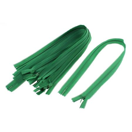 Dress Pants Closed End Nylon Zippers Tailor Sewing Craft Tool Green 50cm 10 Pcs - image 2 de 2
